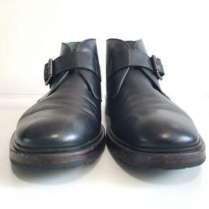 Johnston & Murphy Shoes - JOHNSTON & MURPHY Mens 1850 Black Monk Strap Boots
